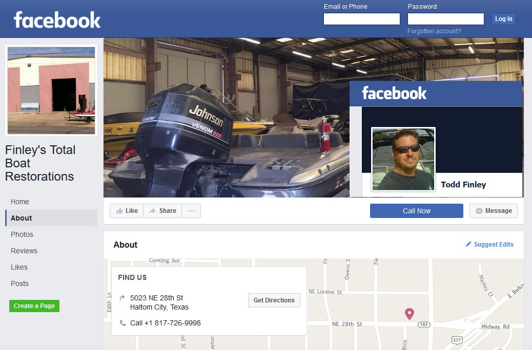 Paedophile Charles Todd Finley Finley`s Boat restorations Haltom City Fort Worth Texas facebook
