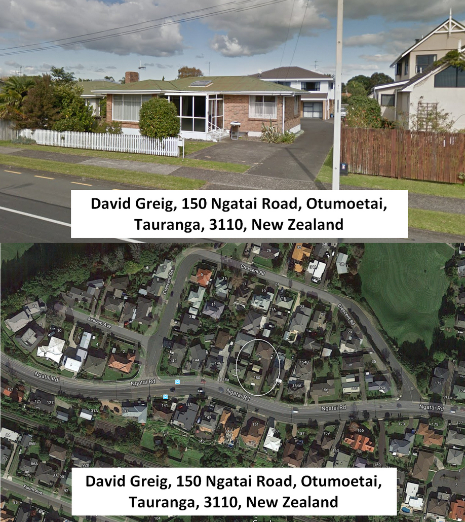 David Greig, 150 Ngatai Road, Otumoetai, Tauranga, 3110, Bay of Plenty New Zealand